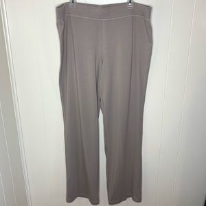 Eileen Fisher Pants Taupe Pull On Organic Cotton